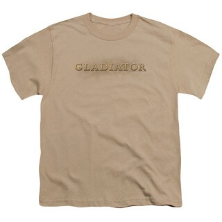 Gladiator/Logo Short Sleeve Youth 18/1 in Sand