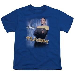 Star Trek/Tuvok Short Sleeve Youth 18/1 in Royal