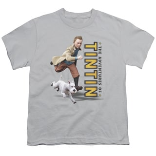 Tintin/Come On Snowy Short Sleeve Youth 18/1 Silver