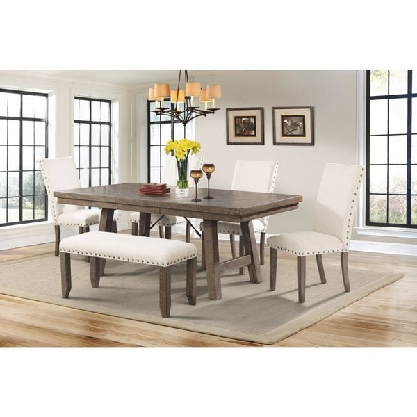 Picket House Dex 6 piece Dining Table and Chairs Set Free