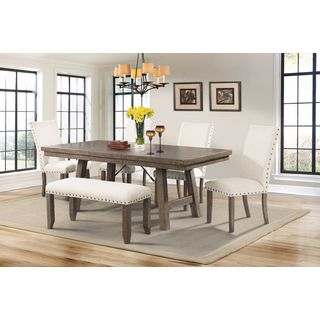 8dcf437d6fdb Shop Picket House Dex 6-piece Dining Table and Chairs Set - Free Shipping  Today - Overstock - 12809106