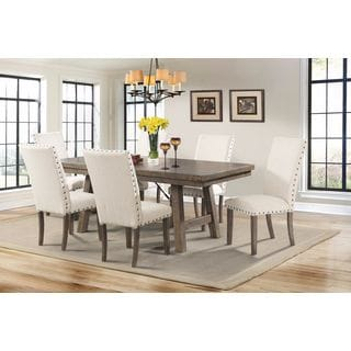 Picket House Furnishings Dex 7PC Dining Set-Table & 6 Upholstered Dining Chairs