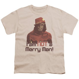 Star Trek/Not Merry Short Sleeve Youth 18/1 in Cream