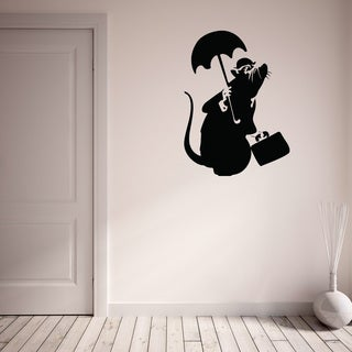 Style and Apply 'Drowned Rat - Banksy' Vinyl Wall Decal