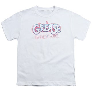 Grease/Grease Is The Word Short Sleeve Youth 18/1 in White
