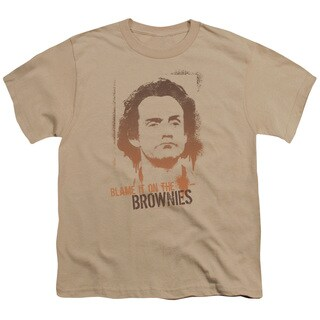 Taxi/Blame It On The Brownies Short Sleeve Youth 18/1 in Sand