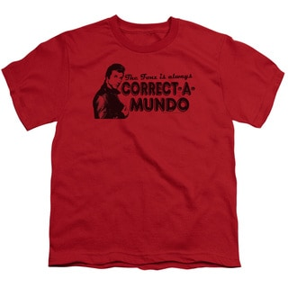 Happy Days/Correct A Mundo Short Sleeve Youth 18/1 in Red