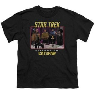 Star Trek Original/Cat's Paw Short Sleeve Youth 18/1 Black