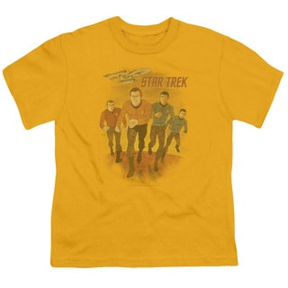 Star Trek/Animated Short Sleeve Youth 18/1 in Gold