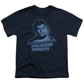 St Original/Vulcan Mind Short Sleeve Youth 18/1 Navy