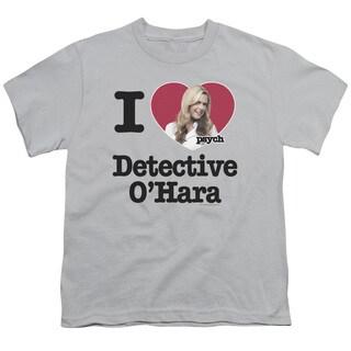 Psych/I Heart O'Hara Short Sleeve Youth 18/1 in Silver