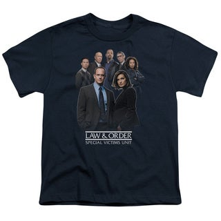 Law & Order SVU/Team Short Sleeve Youth 18/1 in Navy
