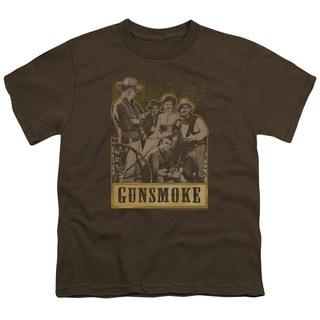 Gunsmoke/Gunsmoke Gang Short Sleeve Youth 18/1 in Coffee