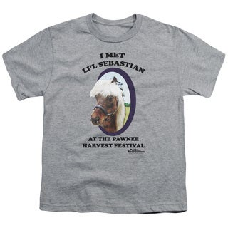 Parks & Rec/Li'L Sebastian Short Sleeve Youth 18/1 in Heather