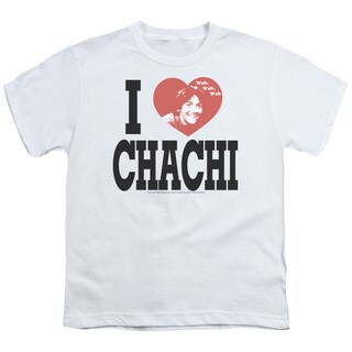 Happy Days/I Heart Chachi Short Sleeve Youth 18/1 in White