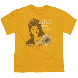 Macgyver/Duct Tape Short Sleeve Youth 18/1 in Gold