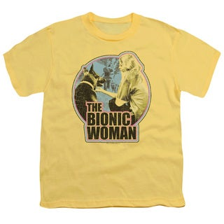 Bionic Woman/Jamie & Max Short Sleeve Youth 18/1 in Banana