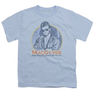 Macgyver/Title Short Sleeve Youth 18/1 in Light Blue