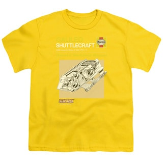 Star Trek/Shuttle Manual Short Sleeve Youth 18/1 in Yellow
