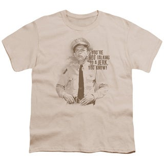 Andy Griffith/No Jerk Short Sleeve Youth 18/1 in Cream