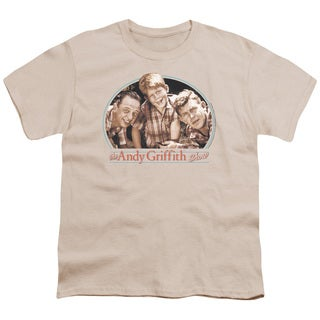 Andy Griffith/3Amigos Short Sleeve Youth 18/1 in Cream