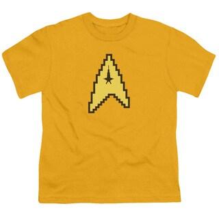 Star Trek/8 Bit Command Short Sleeve Youth 18/1 in Gold
