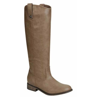 Breckelle's ED36 Women's Knee High Pull-on Chunky Heel Riding Boots
