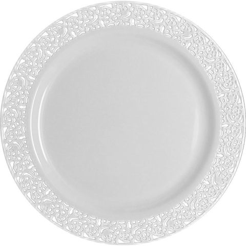Table To Go 'I Can't Believe Its Plastic' Ivory 18-ounce Lace Design Bowl (Case of 200 Pieces)