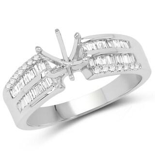 Olivia Leone 14k White Gold 1/2ct TDW Diamond Ring (G-H, SI1-SI2)