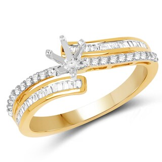 Olivia Leone 14k Yellow Gold 3/8ct TDW Diamond Ring (G-H, SI1-SI2)