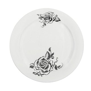 Table To Go I Can't Believe It's Plastic Flower 10-inch Dinner Plates (Case of 200)