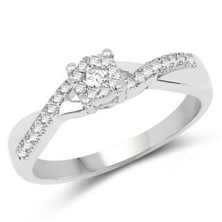 Olivia Leone 14k White Gold 1/4ct TDW Diamond Ring