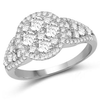 Olivia Leone 14k White Gold 1 1/5ct TDW Diamond Ring (G-H, SI1-SI2)