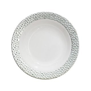Table To Go 'I Can't Believe Its Plastic' Silver/Ivory Plasticware Bowls (50-piece Set)