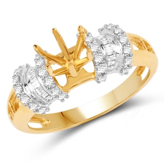 Olivia Leone 14k Yellow and White Gold 1/3ct TDW Diamond Ring