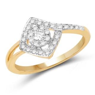 Olivia Leone 14k Yellow Gold 1/4ct TDW Diamond Ring (G-H, SI1-SI2)