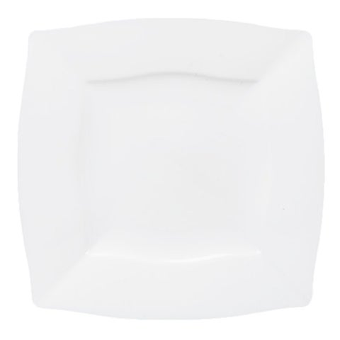Table To Go 'I Can't Believe It's Plastic' Square Waves Design Ivory 18-ounce Bowl (Case of 50)