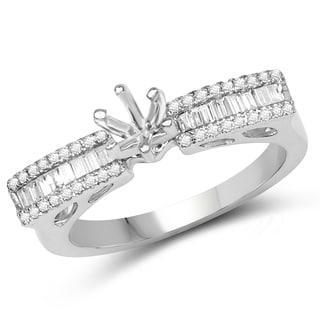 Olivia Leone 14k White Gold 1/3ct TDW Diamond Ring