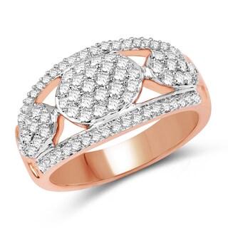 Olivia Leone 14k Rose Gold 3/4ct TDW Diamond Ring