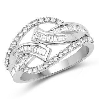 Olivia Leone 14k White Gold 3/4ct TDW Diamond Ring