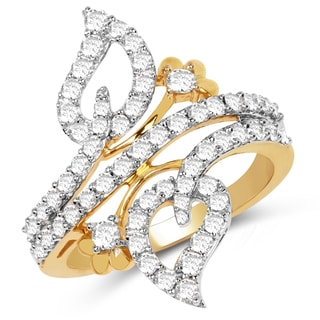 Olivia Leone 14k Yellow Gold 7/8ct TDW Diamond Ring (G-H, SI1-SI2)
