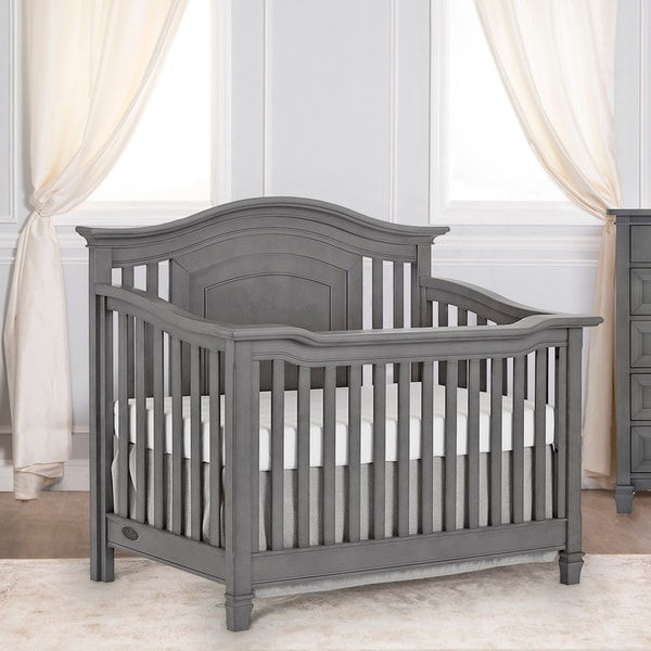 Evolur Fairbanks Storm Grey 5-in-1 Convertible Crib. Opens flyout.