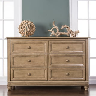 Evolur Hampton Frosted Wood 6-drawer Double Dresser