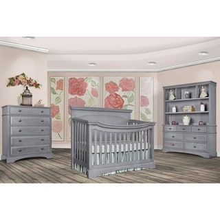 Evolur Catalina Flat Top Collection Life-style Grey Wood Crib