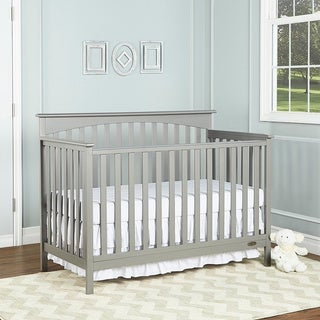 Dream On Me Davenport Grey Wood 5-in-1 Convertible Crib