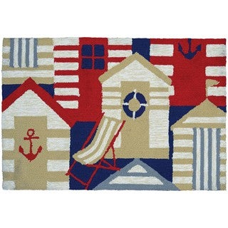 Hand-Hooked Couristan Covington Accents Cabana, Polypropylene Rug (2' x 3')