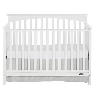 Dream On Me Davenport White Wood 5-In-1 Convertible Crib