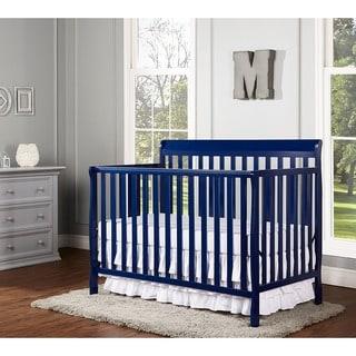 Dream On Me Alissa Blue-finish Wood Convertible 4-in-1 Crib