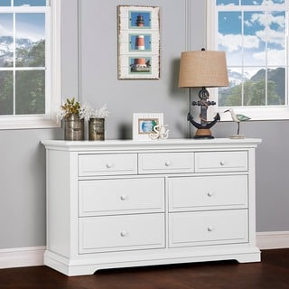 Evolur Parker White Wood Double Dresser