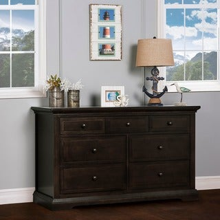 Evolur Parker Black Wood Double Dresser